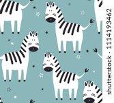 zebras  stars  hand drawn... | Shutterstock .eps vector #1114193462