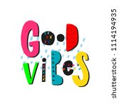 good vibes abstract quote... | Shutterstock .eps vector #1114194935