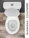 new ceramic toilet bowl indoors ... | Shutterstock . vector #1114196888