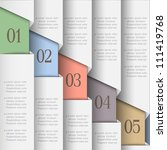 white paper numbered banners.... | Shutterstock .eps vector #111419768