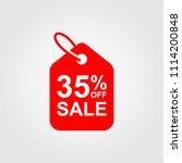 35  off sale discount banner.... | Shutterstock .eps vector #1114200848