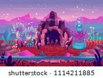 fantasy landscape with a cave... | Shutterstock .eps vector #1114211885