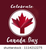 celebrate happy canada day... | Shutterstock .eps vector #1114212275