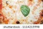 margherita aka margarita pizza...   Shutterstock . vector #1114215998