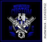 motorcycles custom logo | Shutterstock .eps vector #1114222412