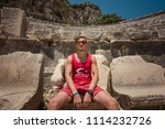 young man at theatre in myra... | Shutterstock . vector #1114232726