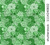vector succulents seamless... | Shutterstock .eps vector #1114240832