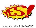 comic text speech. icon... | Shutterstock . vector #1114246355