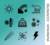 vector icon set about weather... | Shutterstock .eps vector #1114246766