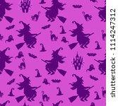abstract seamless halloween... | Shutterstock . vector #1114247312