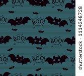 abstract seamless halloween... | Shutterstock . vector #1114248728