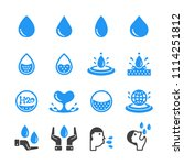 water icon set | Shutterstock .eps vector #1114251812