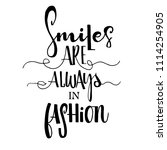 smiles are always in fashion...   Shutterstock .eps vector #1114254905
