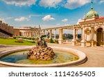 buda district in summer green... | Shutterstock . vector #1114265405