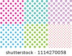 set of 6 simple seamless... | Shutterstock .eps vector #1114270058