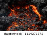 close up of a lava flow of... | Shutterstock . vector #1114271372