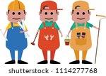professional architect  plumber ...   Shutterstock .eps vector #1114277768