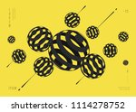 abstract vector background with ... | Shutterstock .eps vector #1114278752