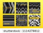 vector noise posters set with... | Shutterstock .eps vector #1114278812