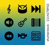 vector icon set about music...   Shutterstock .eps vector #1114278932
