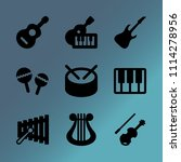 vector icon set about music... | Shutterstock .eps vector #1114278956