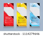 roll up banner template design... | Shutterstock .eps vector #1114279646