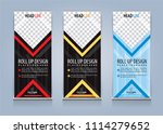 roll up banner template design... | Shutterstock .eps vector #1114279652