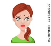 face expression of cleaner...   Shutterstock .eps vector #1114283102