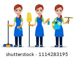 cleaning company staff in...