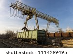 large lifting crane with... | Shutterstock . vector #1114289495