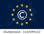 copyright in the digital single ... | Shutterstock .eps vector #1114294112