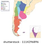 vector map of argentina with... | Shutterstock .eps vector #1114296896