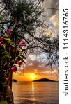 sunset at gumusluk  bodrum ... | Shutterstock . vector #1114316765