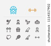 activity icons set. horse sport ...