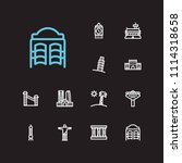 travel icons set  seul  florida ...