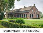 historic dutch long gable... | Shutterstock . vector #1114327052
