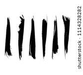 vector set of grunge brush... | Shutterstock .eps vector #1114328282