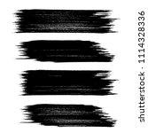 vector set of grunge brush...   Shutterstock .eps vector #1114328336