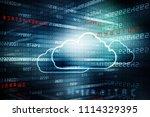 2d rendering cloud computing | Shutterstock . vector #1114329395