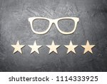Wooden Glasses And Five Stars...