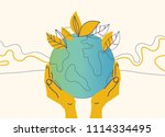 ecology concept illustration.... | Shutterstock .eps vector #1114334495