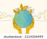 ecology concept illustration.... | Shutterstock .eps vector #1114334495