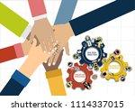 flat design illustration... | Shutterstock .eps vector #1114337015