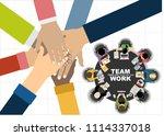 flat design illustration... | Shutterstock .eps vector #1114337018
