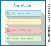 alert notices include... | Shutterstock .eps vector #1114344992