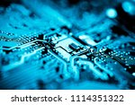 abstract close up of mainboard... | Shutterstock . vector #1114351322