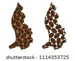 liechtenstein    map of coffee... | Shutterstock .eps vector #1114353725