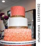 a wedding in shades of orange  | Shutterstock . vector #1114355432