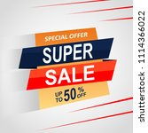 sale offer label isolated tag | Shutterstock .eps vector #1114366022