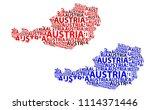 sketch austria letter text map  ... | Shutterstock .eps vector #1114371446
